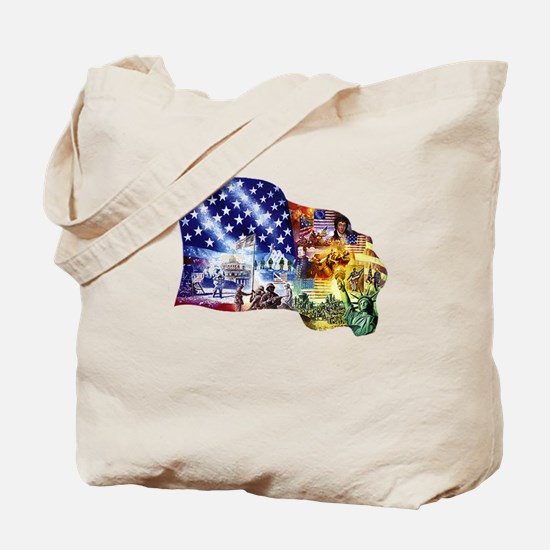 Cool Patriotic women Tote Bag