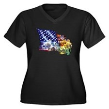 usa5bla Plus Size T-Shirt