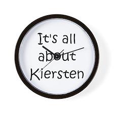 Funny Kiersten Wall Clock