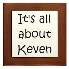 Funny Keven Framed Tile