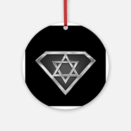 SuperIsraeli(metal) Ornament (Round)