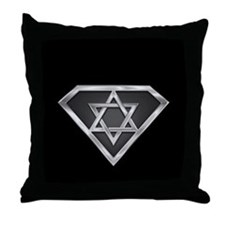 SuperIsraeli(metal) Throw Pillow