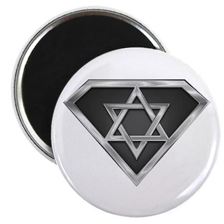 """SuperIsraeli(metal) 2.25"""" Magnet (10 pack)"""