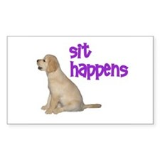 Sit Happens Rectangle Decal