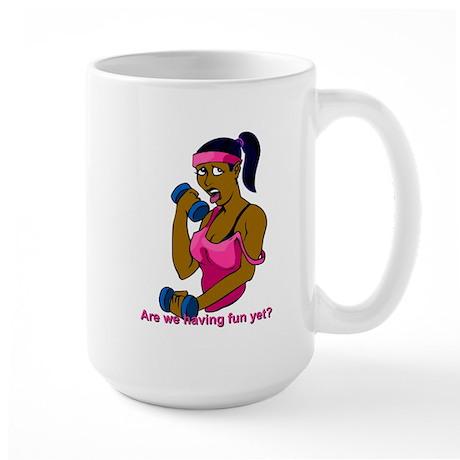 fitness - African American woman Large Mug