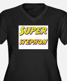 Super stephon Women's Plus Size V-Neck Dark T-Shir