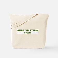 Green Tree Python Hugger Tote Bag