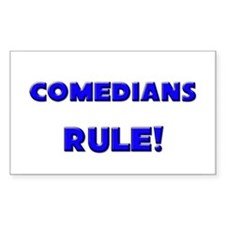Comedians Rule! Rectangle Decal