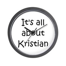 Funny Kristian Wall Clock
