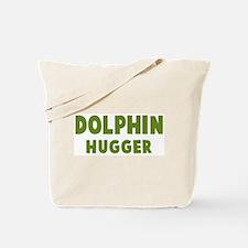 Dolphin Hugger Tote Bag
