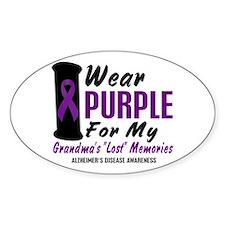 Grandma's Lost Memories 2 Oval Decal