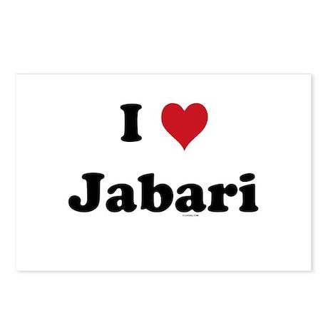 I love Jabari Postcards (Package of 8)