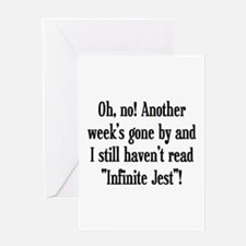 read infinite jest Greeting Card