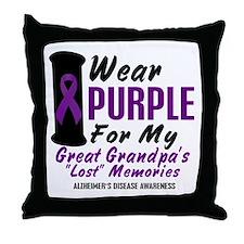 Great Grandpa's Lost Memories 2 Throw Pillow