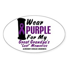 Great Grandpa's Lost Memories 2 Oval Decal