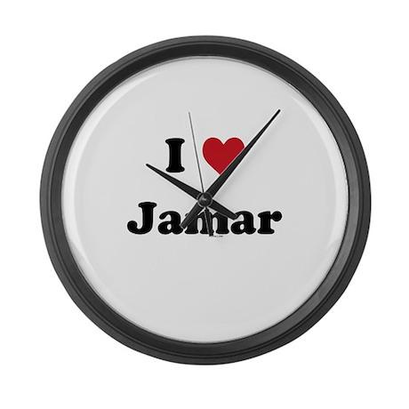 I love Jamar Large Wall Clock
