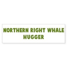 Northern Right Whale Hugger Bumper Bumper Sticker
