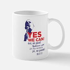 """Obama """"Yes We Can"""" Global Languages Mug"""