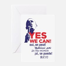 "Obama ""Yes We Can"" Global Languages Greeting Card"