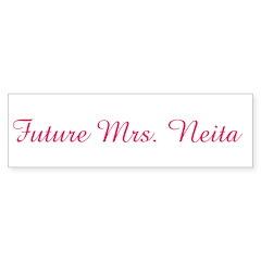 Future Mrs. Neita Bumper Bumper Sticker