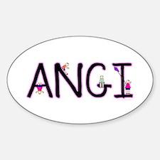 Angi (Girl) Oval Decal