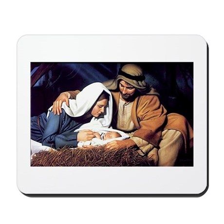 Christmas Jesus Birth Stable Mousepad