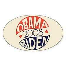 Retro Campaign Oval Bumper Decal