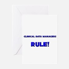 Clinical Data Managers Rule! Greeting Cards (Pk of