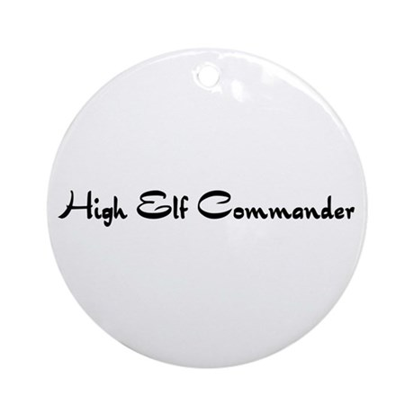 High Elf Commander Ornament (Round)