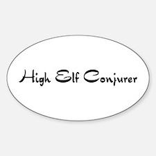 High Elf Conjurer Oval Decal