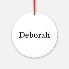 Deborah - Personalized Keepsake (Round)