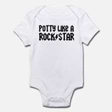 Potty Like A Rock Star Infant Bodysuit