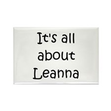 Funny Leanna Rectangle Magnet