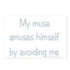 Muse Abuse Blue 2 Postcards (Package of 8)