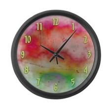 Red Sky Large Wall Clock