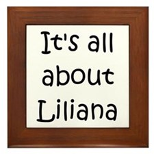 Cool Liliana Framed Tile