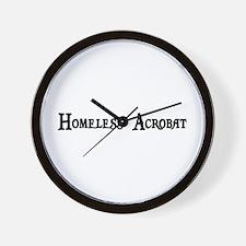 Homeless Acrobat Wall Clock