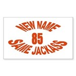 New Name, Same Jackass Rectangle Sticker 50 pk)