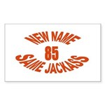 New Name, Same Jackass Rectangle Sticker 10 pk)