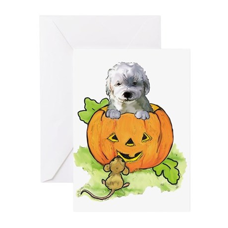 labradoodle halloween Greeting Cards (Pk of 10)
