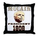 McCAIN (19) 08!!!! Throw Pillow