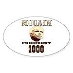 McCAIN (19) 08!!!! Oval Sticker (50 pk)