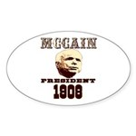 McCAIN (19) 08!!!! Oval Sticker (10 pk)