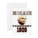 McCAIN (19) 08!!!! Greeting Cards (Pk of 20)