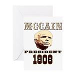 McCAIN (19) 08!!!! Greeting Card