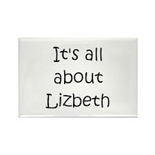 Funny Lizbeth Rectangle Magnet