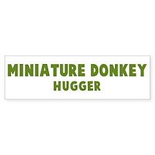 Miniature Donkey Hugger Bumper Bumper Sticker