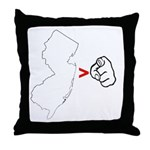 NJ > U Throw Pillow