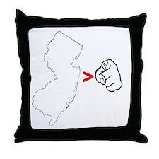 NJ > U Throw Pillow