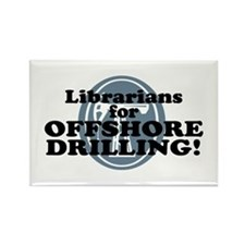 Librarians For Offshore Drilling Rectangle Magnet